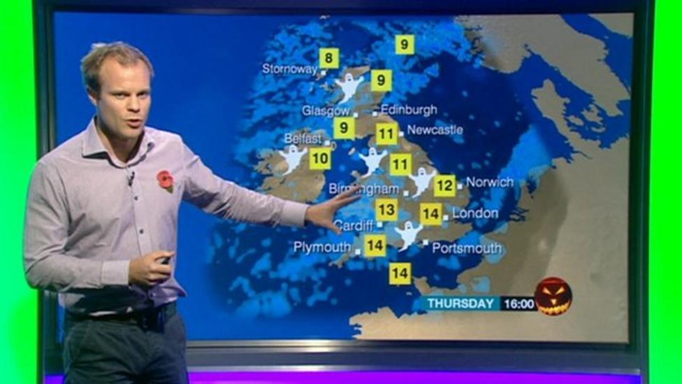 Newsround's Halloween weather report
