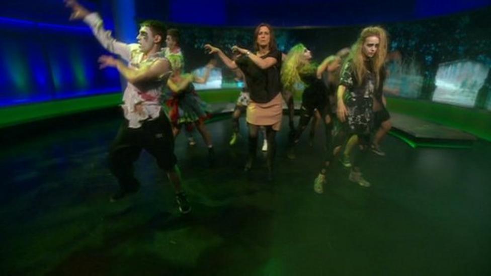 BBC News presenter does Thriller