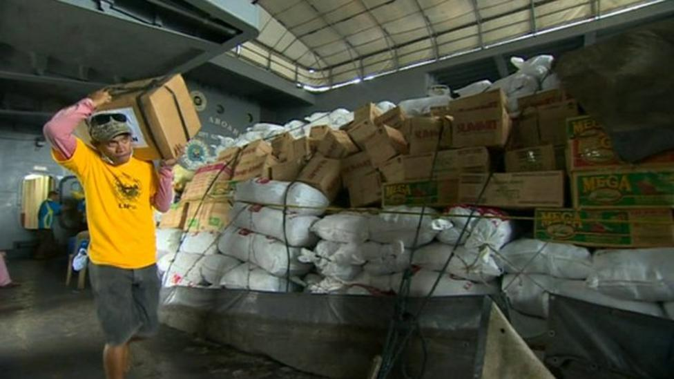 Aid finally reaching Philippines