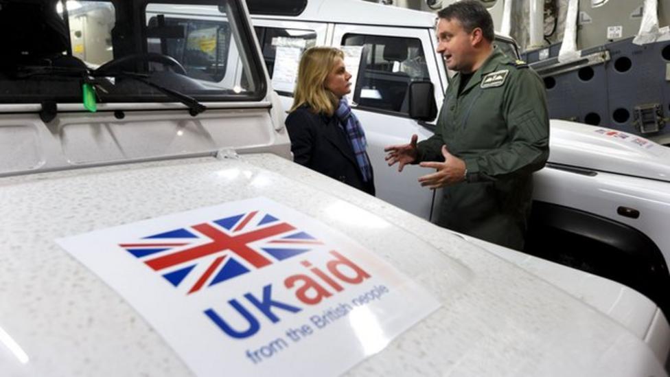UK aid plane heading to Philippines