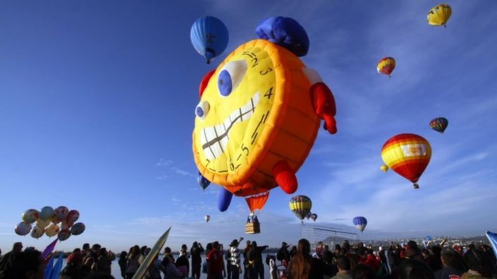 Cool hot air balloon festival in Mexico