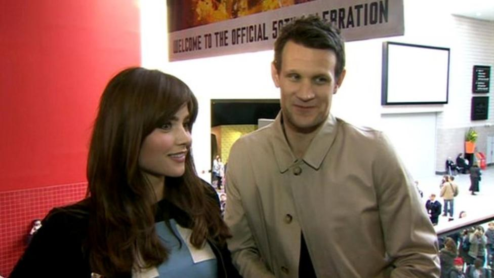 Jenna and Matt on Who 50th special