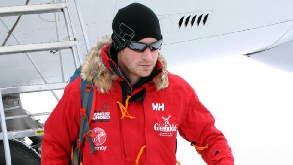 Prince Harry in Antarctica for trek