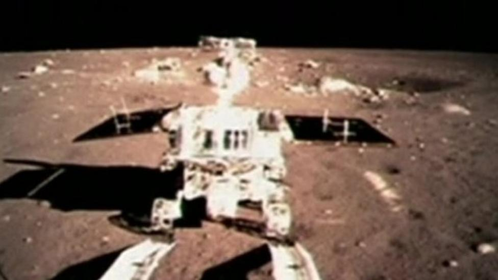 China's space rover rolls onto Moon