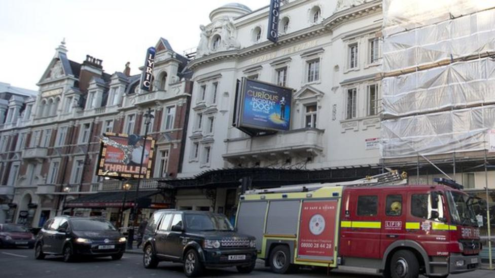 Theatre roof collapses in London