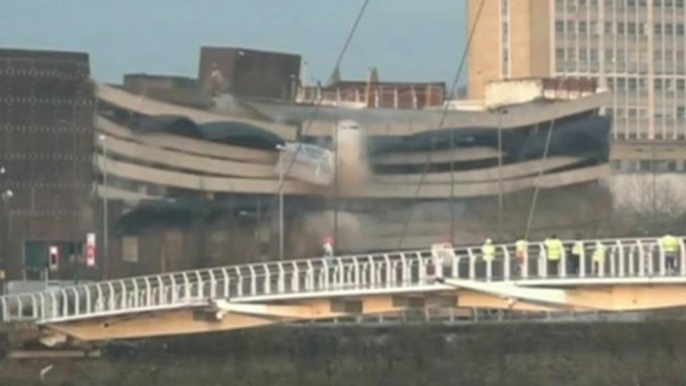 Car park demolition caught on camera