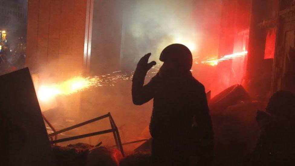 Another night of violence in Ukraine capital