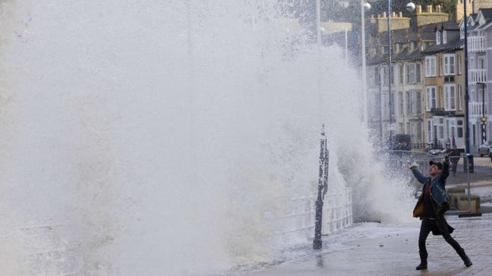 Welsh coast battered by high tides