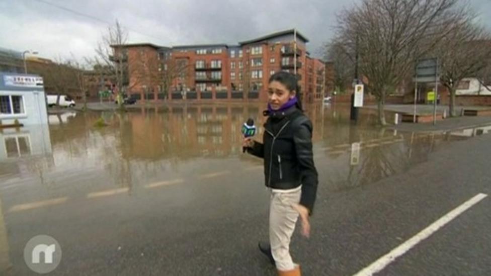 River Severn bursts its banks