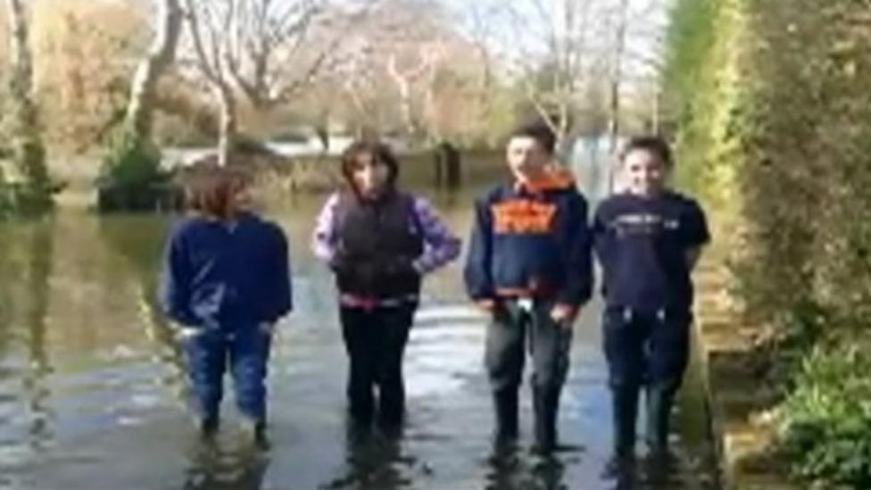 'Stay safe in the floods' video message