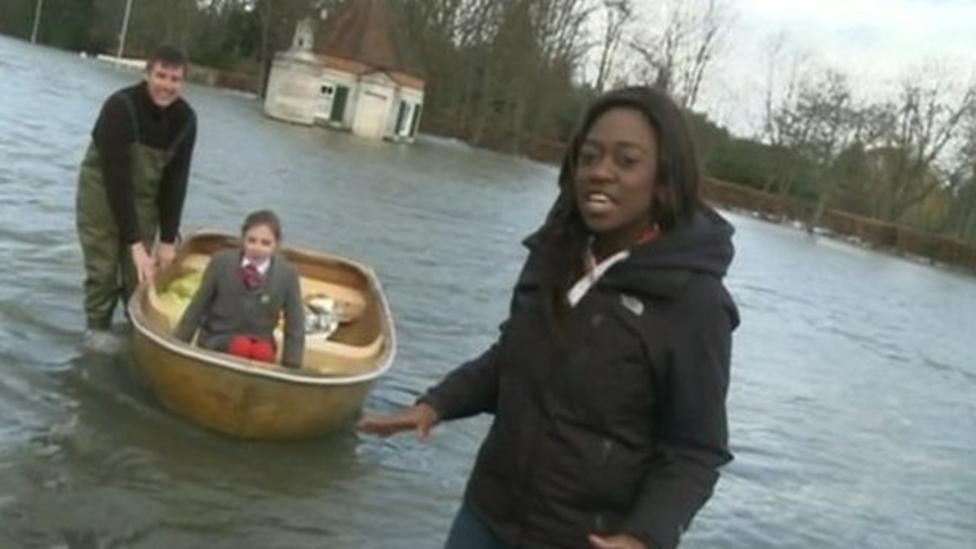 'My house is surrounded by water'