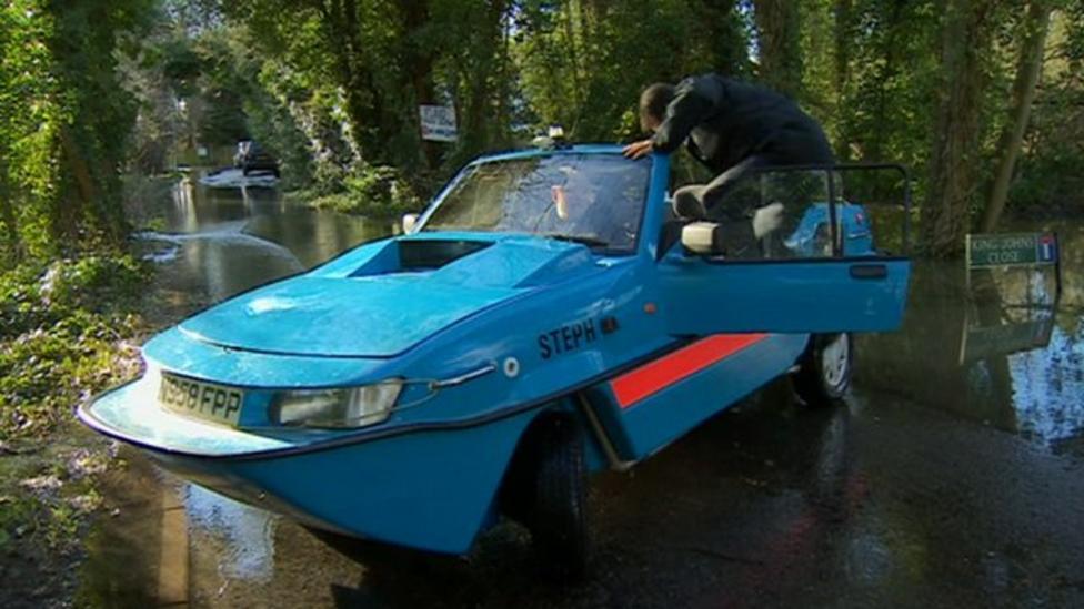The car helping flood-hit village