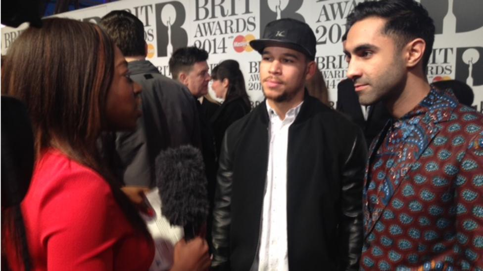 The noises of Brit Award excitement