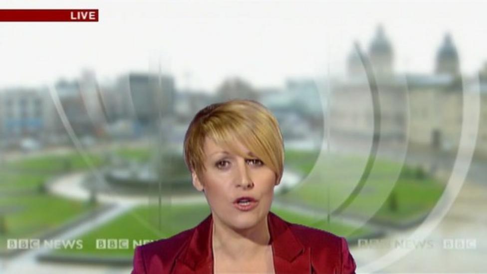 TV reporter 'sinks into floor'