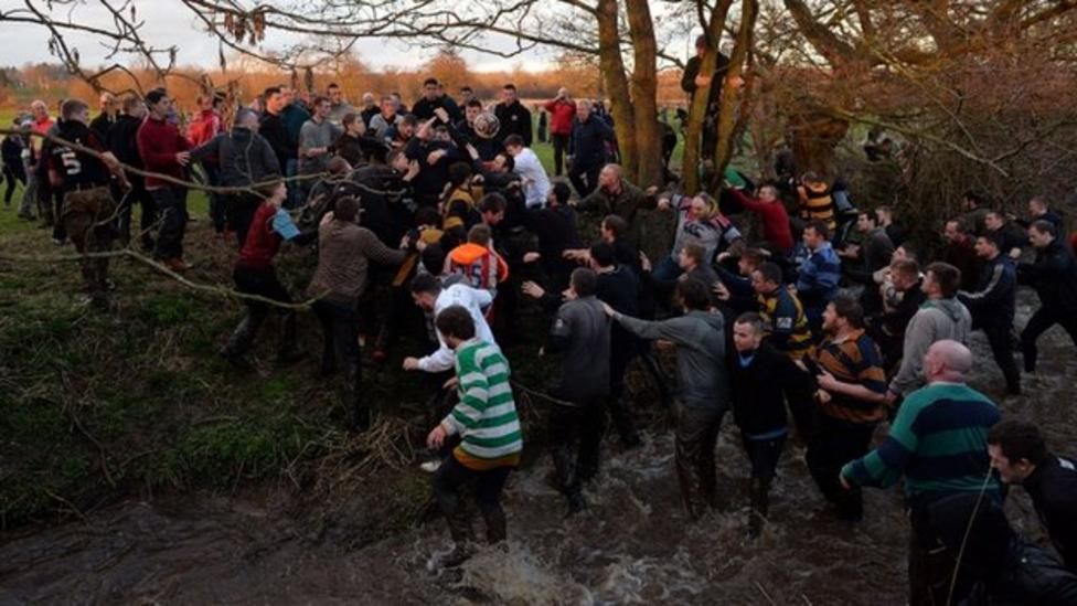 Footy match that ends in a river!