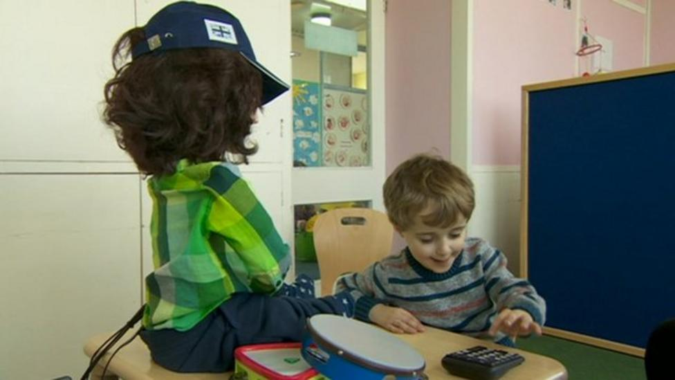 The robot helping kids with autism