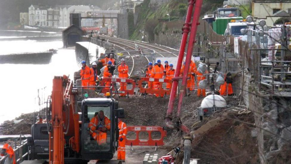 Storm damaged railway line reopens