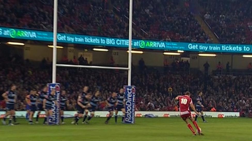 Cardiff Blues v Scarlets  Rhys Priestland s point-blank miss - BBC Sport 8de4436e9b9