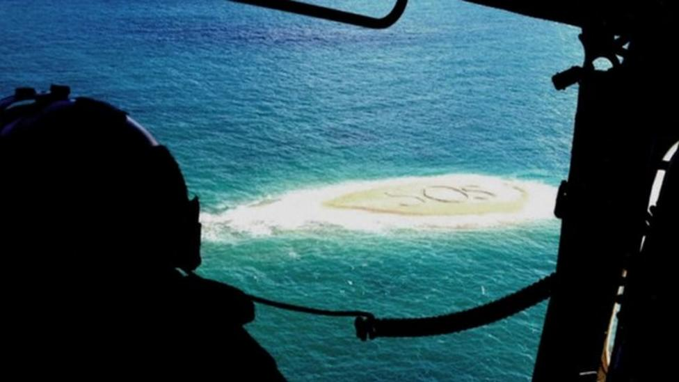 Dramatic SOS desert island rescue