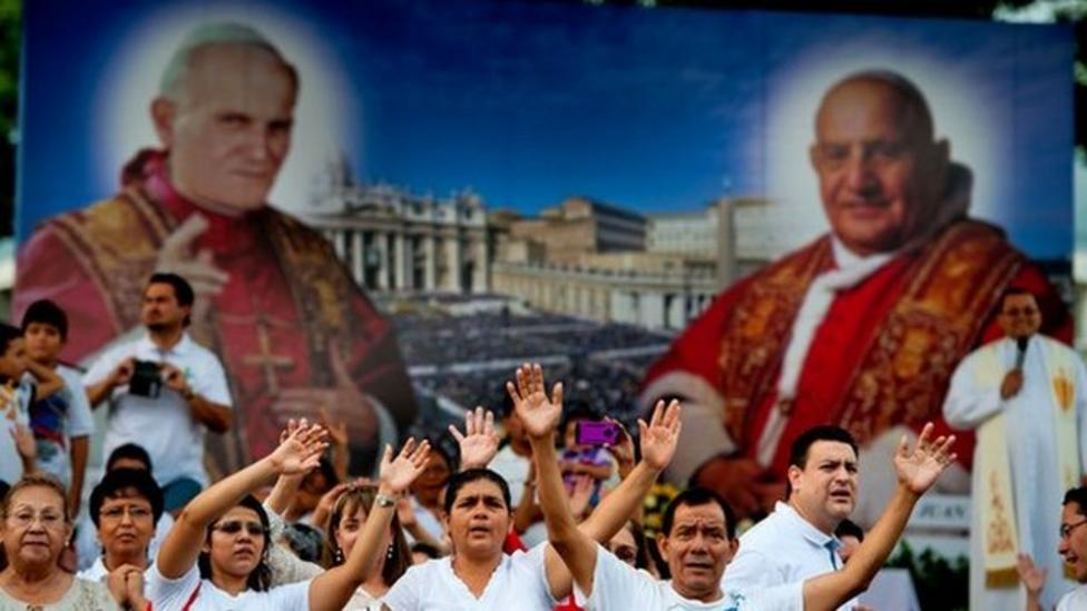 Watch: Vatican declares two popes saints