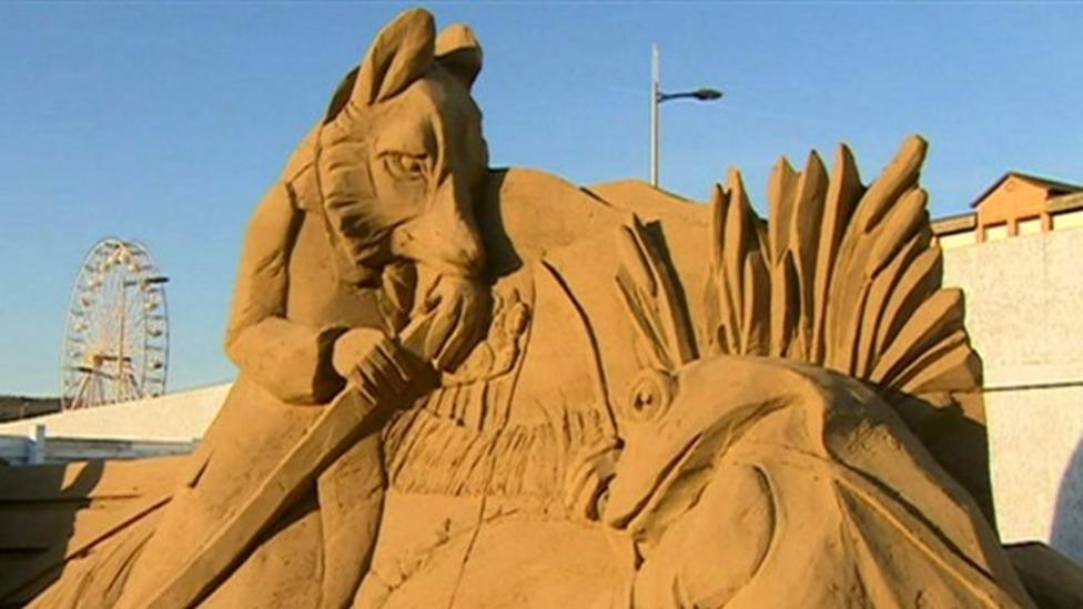 Amazing sandcastles in Weston-super-Mare