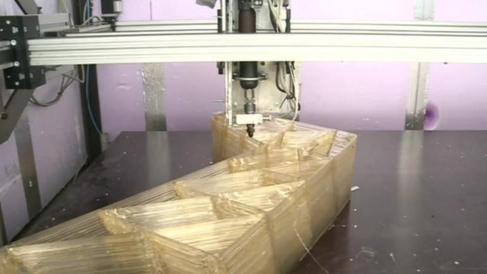 Houses being 3D printed