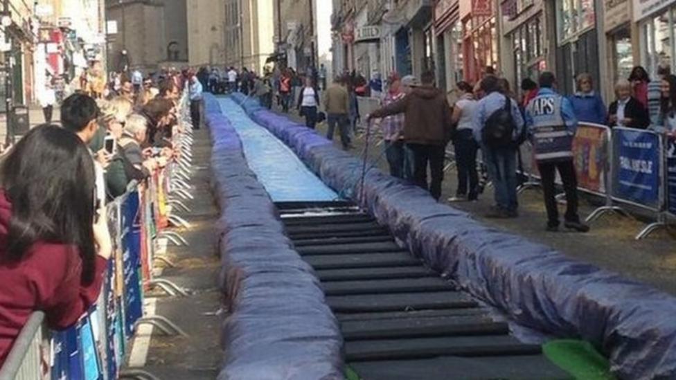 Giant water slide in Bristol