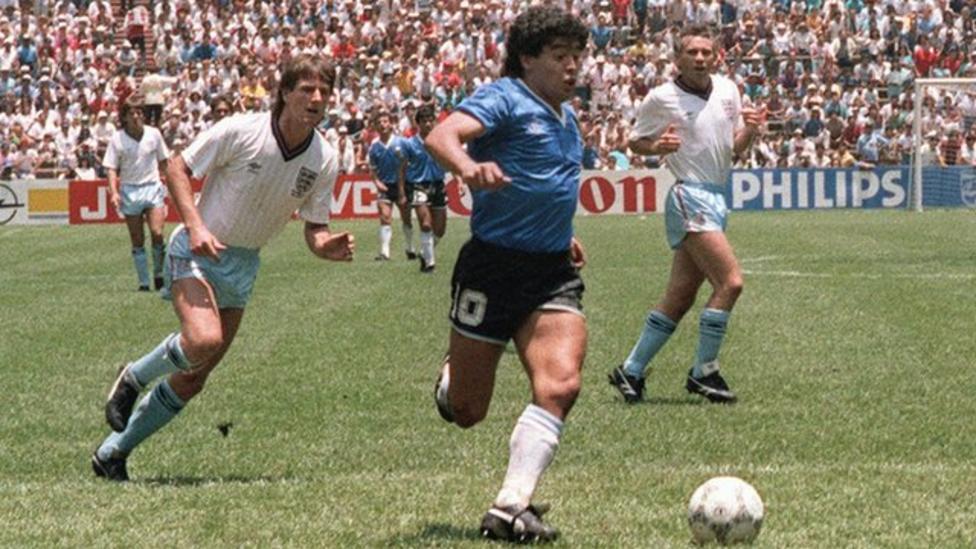 1986 World Cup - England v Argentina: Diego Maradona ...