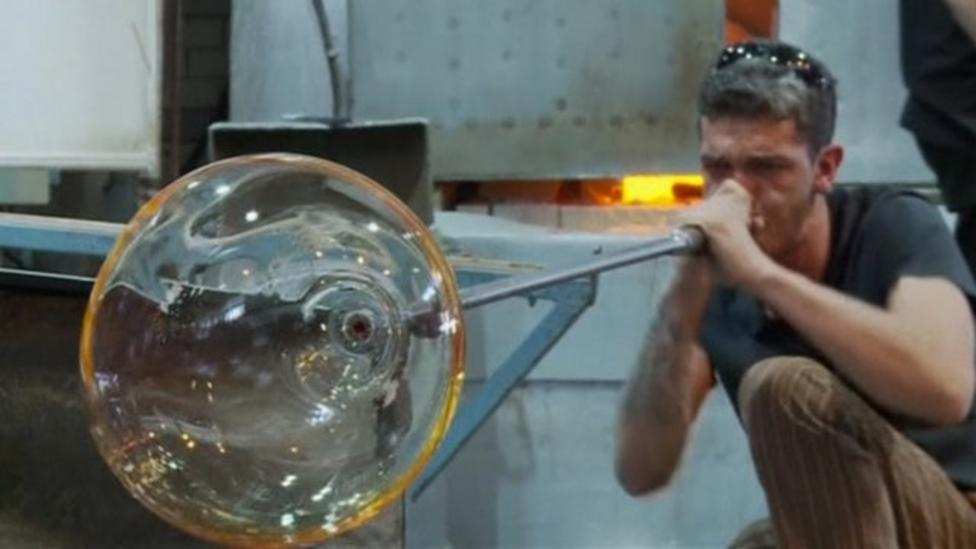 Glass blowing competition in Finland