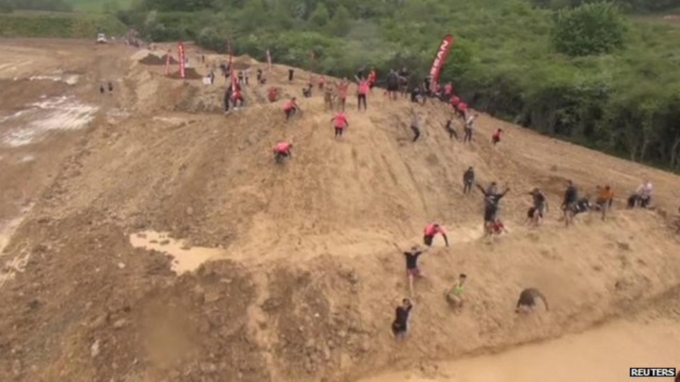 Incredibly muddy race in France