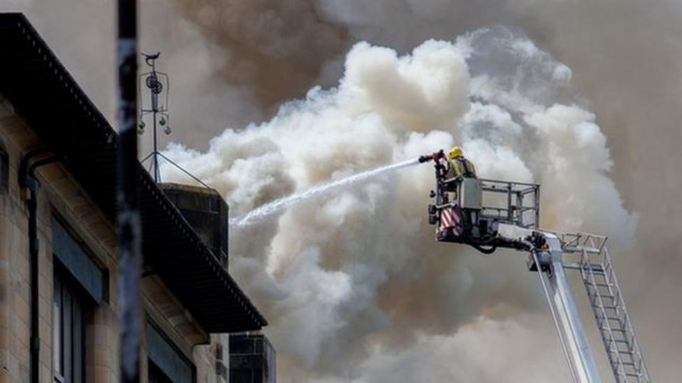 Fire crews save Glasgow art school