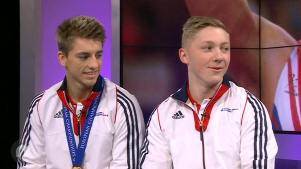 Gold medals for GB's male gymnasts