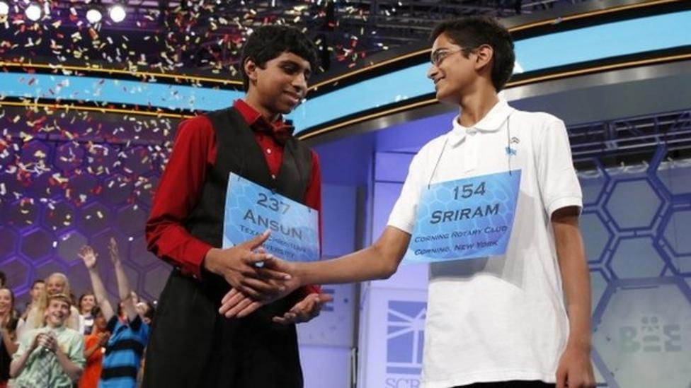 Moment Spelling Bee finalists both won