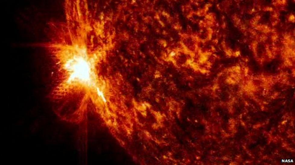 Intense solar flares caught on film
