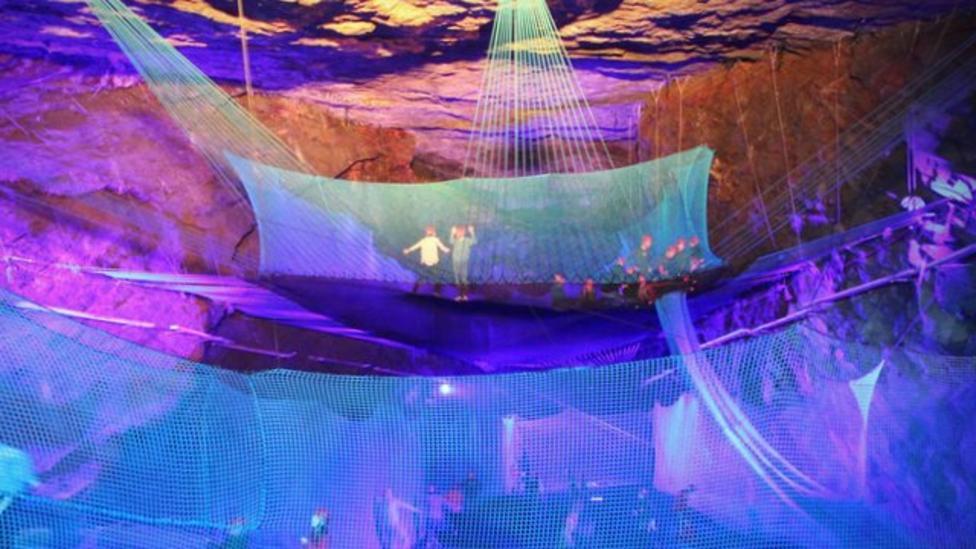 Amazing underground trampoline opens