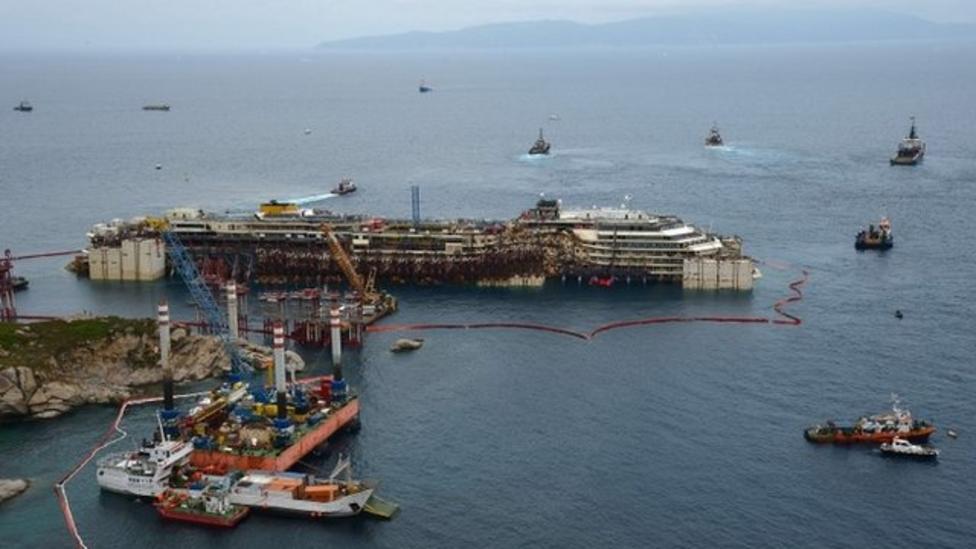 Raising of Costa Concordia begins