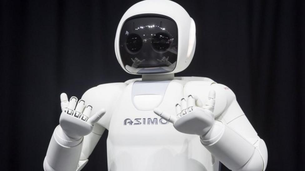 Asimo the robot shows off new tricks