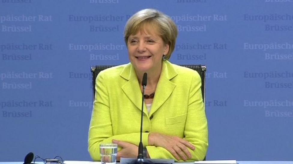 Birthday surprise for German Chancellor