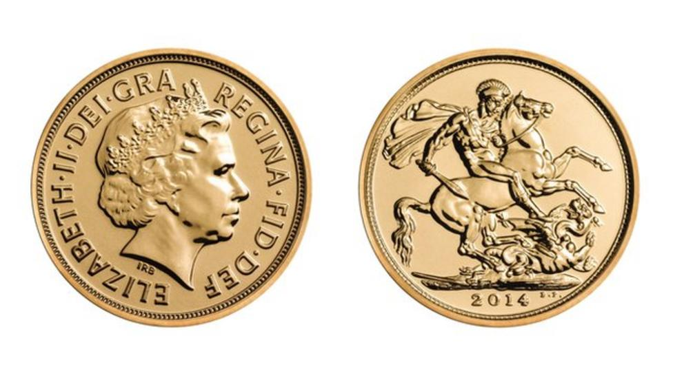 Prince George's gold birthday coin