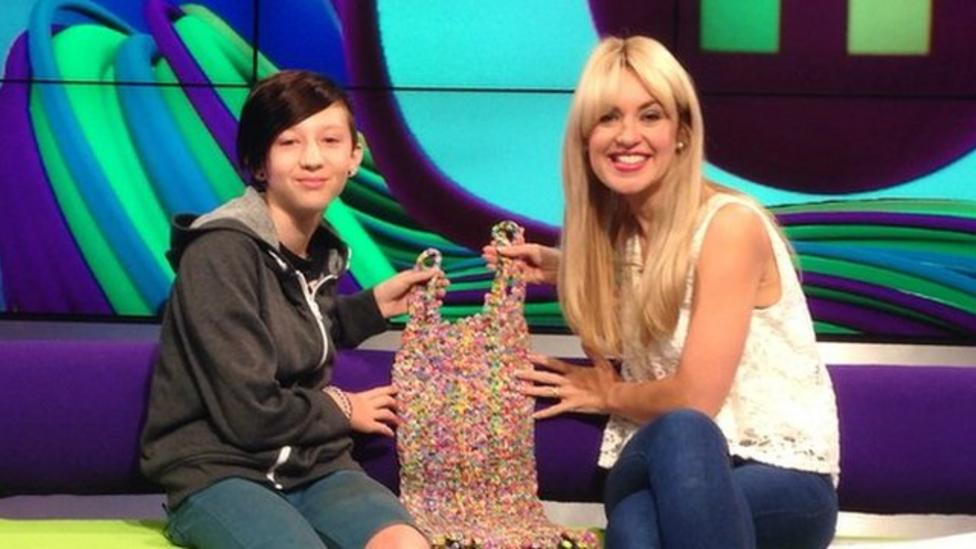 Loom band dress girl chats to Newsround