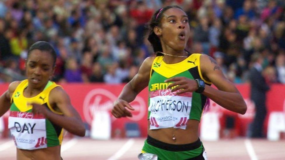 Glasgow 2014 Stephanie Mcpherson Wins 400m For Jamaica Bbc Sport
