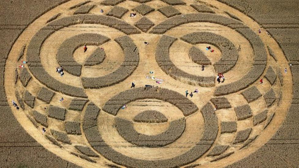 Giant crop circle appears in Germany