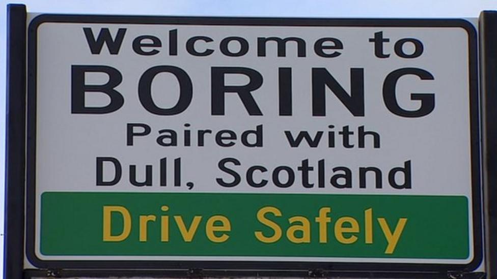 Boring town celebrates Dull pairing