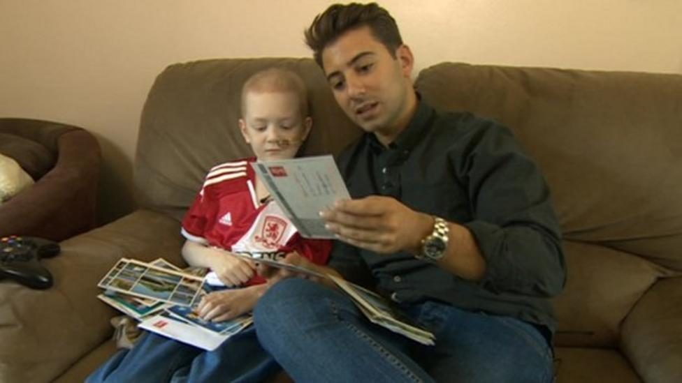 Find out why Josh, 7, gets 150 postcards a day