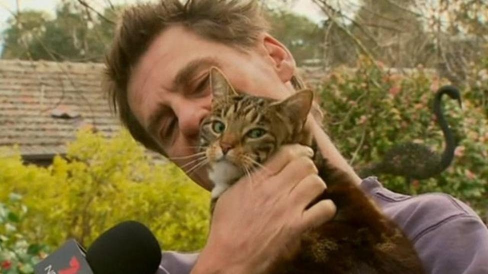 Sally the cat rescues owner from fire