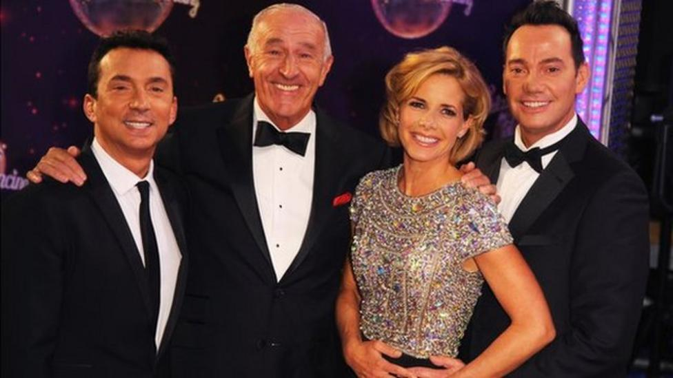 Strictly stars shimmy down the red carpet