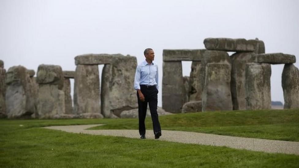 Kids meet Obama at Stonehenge