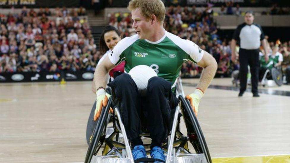 Prince Harry plays wheelchair rugby