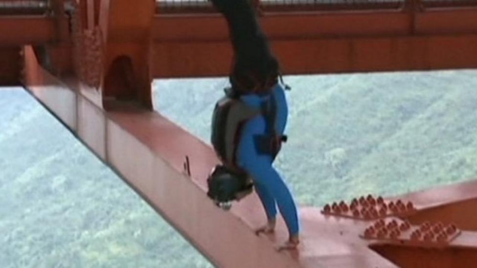 Base jumpers leap from bridge