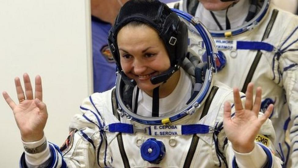 First Russian woman in ISS mission